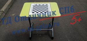 Парта для шахматного класса «Точка роста» Двухместная Салатовая